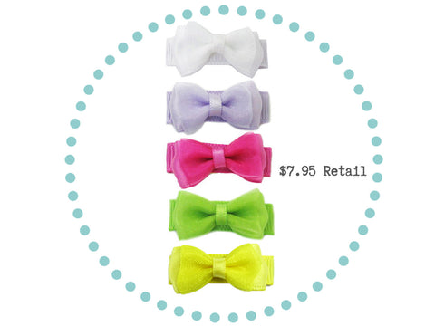 Free Gift 5 Hair Bow Collection Summer Garden