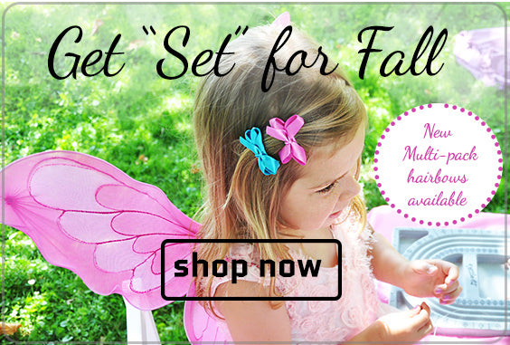 Get set for fall hair accessories for babies and toddlers!