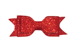 principessa glitter bow red