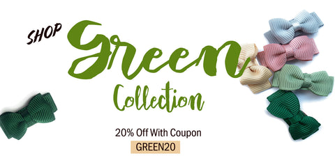 GREEN BOWS ON SALE WITH GREEN20 COUPON
