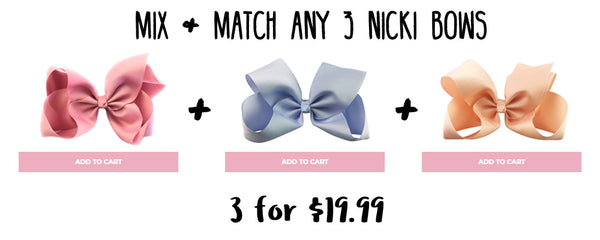 nicki bows mix and match