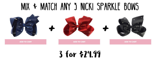 nicki sparkle bows mix and match