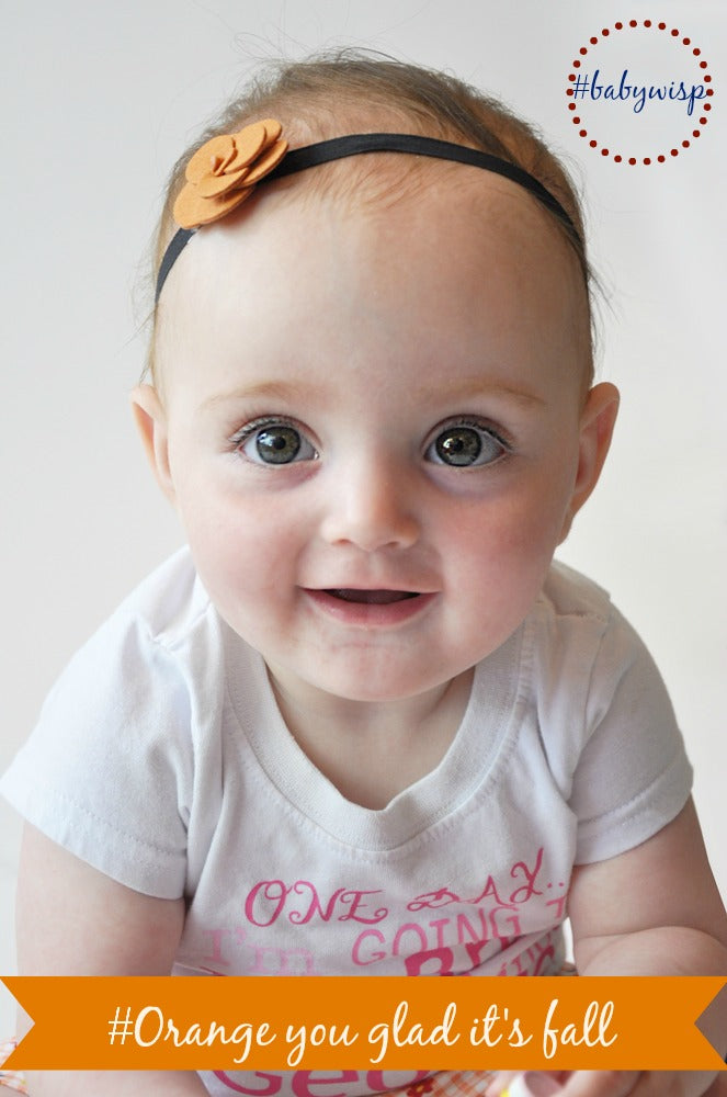 Orange Baby Headbands