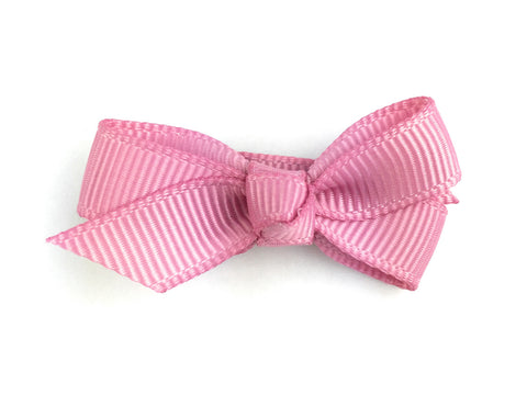 chelsea grosgrain bow on small snap clip