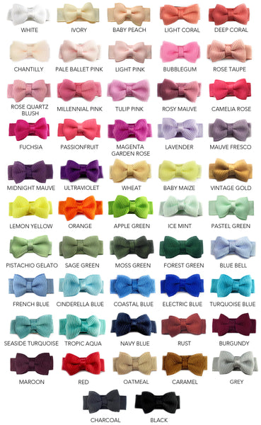 grosgrain tuxedo bow snap clip all colors
