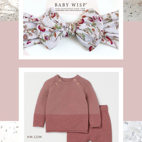 baby wisp floral bow headband and h and m sweater