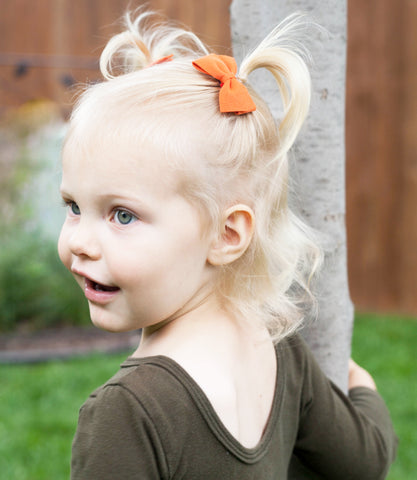 thali faux suede hair bow toddler girl baby wisp