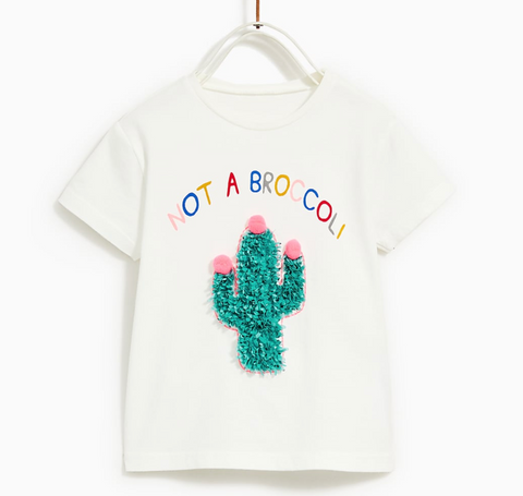 zara kids cactus shirt will look good with Baby Wisp Bow