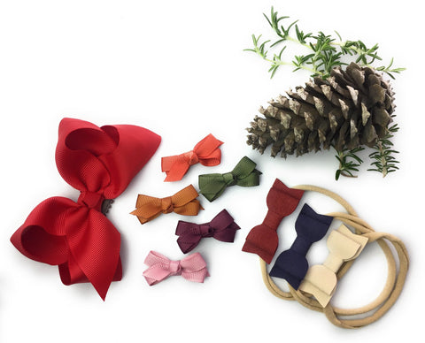 Headbands and Hair Clips For Baby - Winter Bow Collection - Baby Wisp