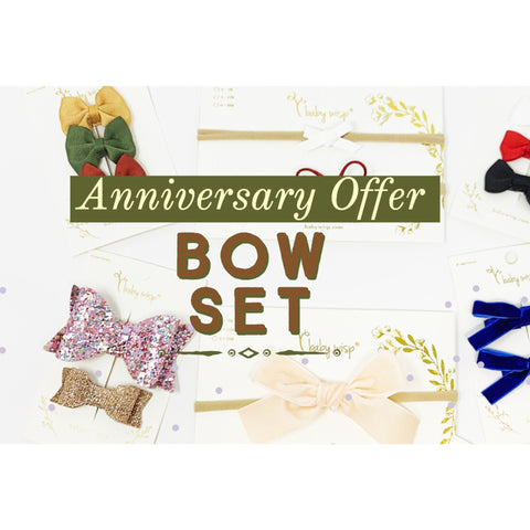Anniversary Limited Time Offer - Baby Wisp Bow Sampler Gift Set - Baby Wisp