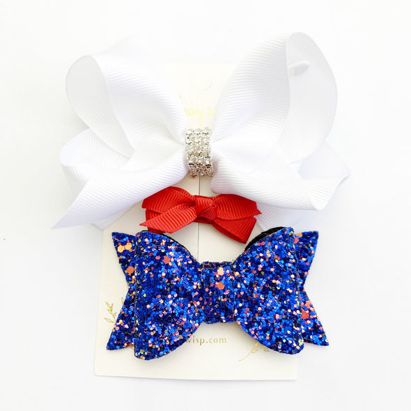 Patriot Set - Try All 3 Clips - Fourth of July - Baby Wisp