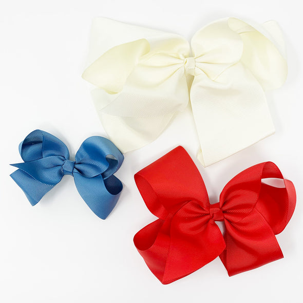 8-6-4 Inch Boutique Bows - True American Girl - Baby Wisp