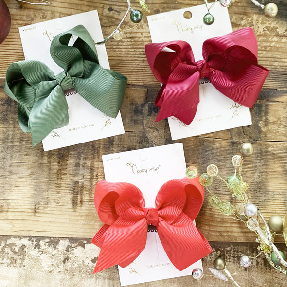 3 Americana Big Bows - Toddler Christmas Gift Set - Baby Wisp