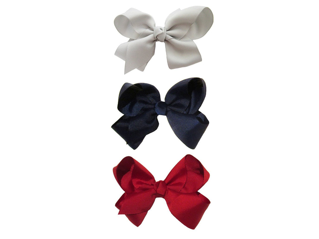 Americana Bow Pinch Clip Collection - Classic - Baby Wisp