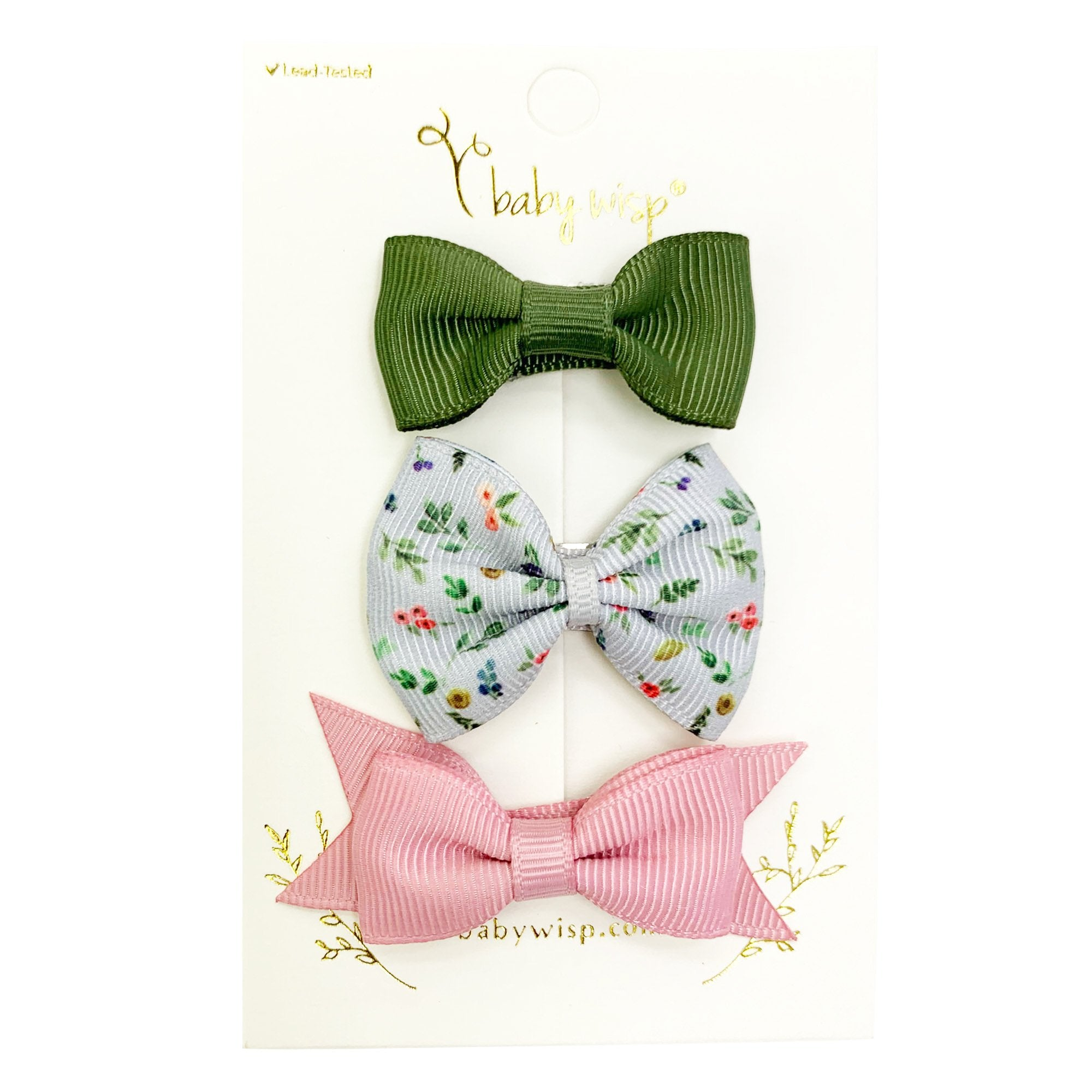 Pretty floral bows on snap clips toddler hair clips toddler hair accessory bow