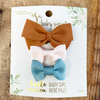 3 Mixed Bows Baby Spring Gift Set - Medium Wisp Clip 2 Snap Clips - Baby Wisp