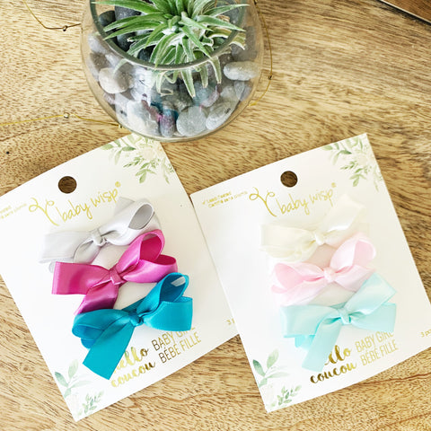 Small Snap Satin Boutique Bows - Mermaid Princess