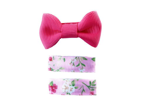 spring floral baby bows