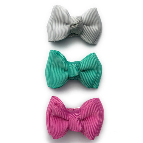 Small Snap Trendy Twist Bows - Cute Baby Bows