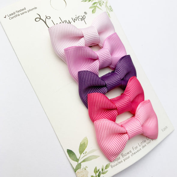 Small Snap Charlotte 5 Bow Collection - Baby Craze - Baby Wisp