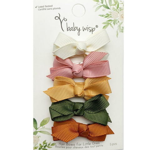 5 Small Snap Chelsea Boutique Bow Collection - Desert Spring - Baby Wisp