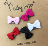 Mini Latch Tuxedo Grosgrain Bow Collection - Classic Baby Bows - Baby Wisp