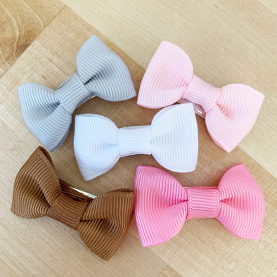 Small Snap Clip 5 Charlotte Bows - Pink Pony - Baby Wisp