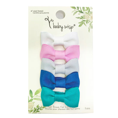 5 Small Snap Charlotte bows - Spring Sets - Baby Wisp