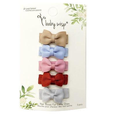 5 Small Snap Tuxedo Bows Warm Spring - Baby Wisp