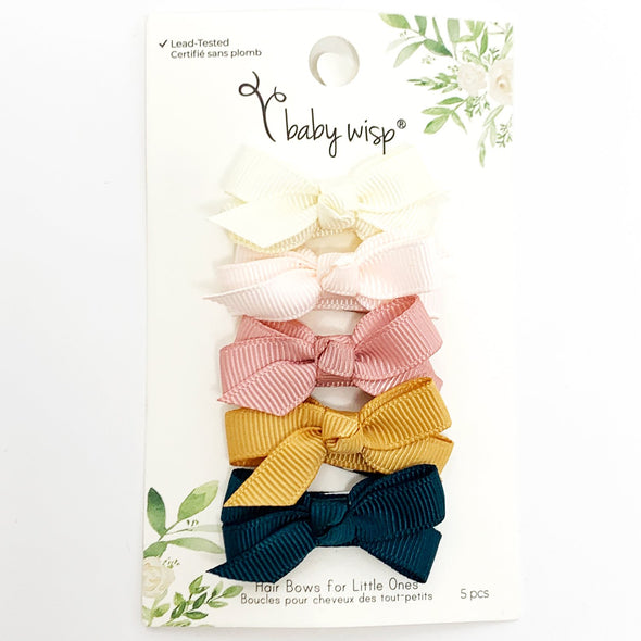 5 Small Snap Chelsea Boutique Bows Gift Set - Enchanted Forest - Baby Wisp