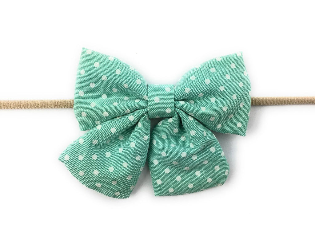 Sailor Bow Headband Oversized Fabric Bow for Baby Girls