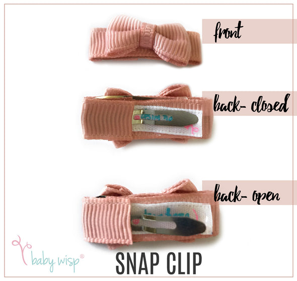 Small Snap Grosgrain Hair Bow Collection - Summer Splash Pad - Baby Wisp