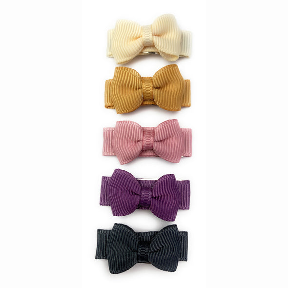 Small Snap Tuxedo Grosgrain Hair Bow Collection - Antique Roadshow - Baby Wisp