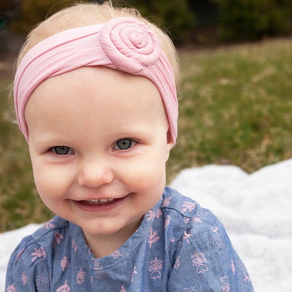 Nylon Roll Infant and Toddler Headwrap - Pinks - Baby Wisp