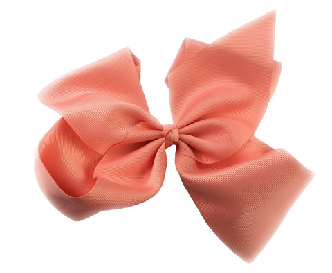 Mariah Bow Pinch Clip - Light Coral - Baby Wisp