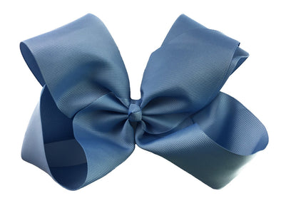 Mariah Bow Pinch Clip - French Blue - Baby Wisp
