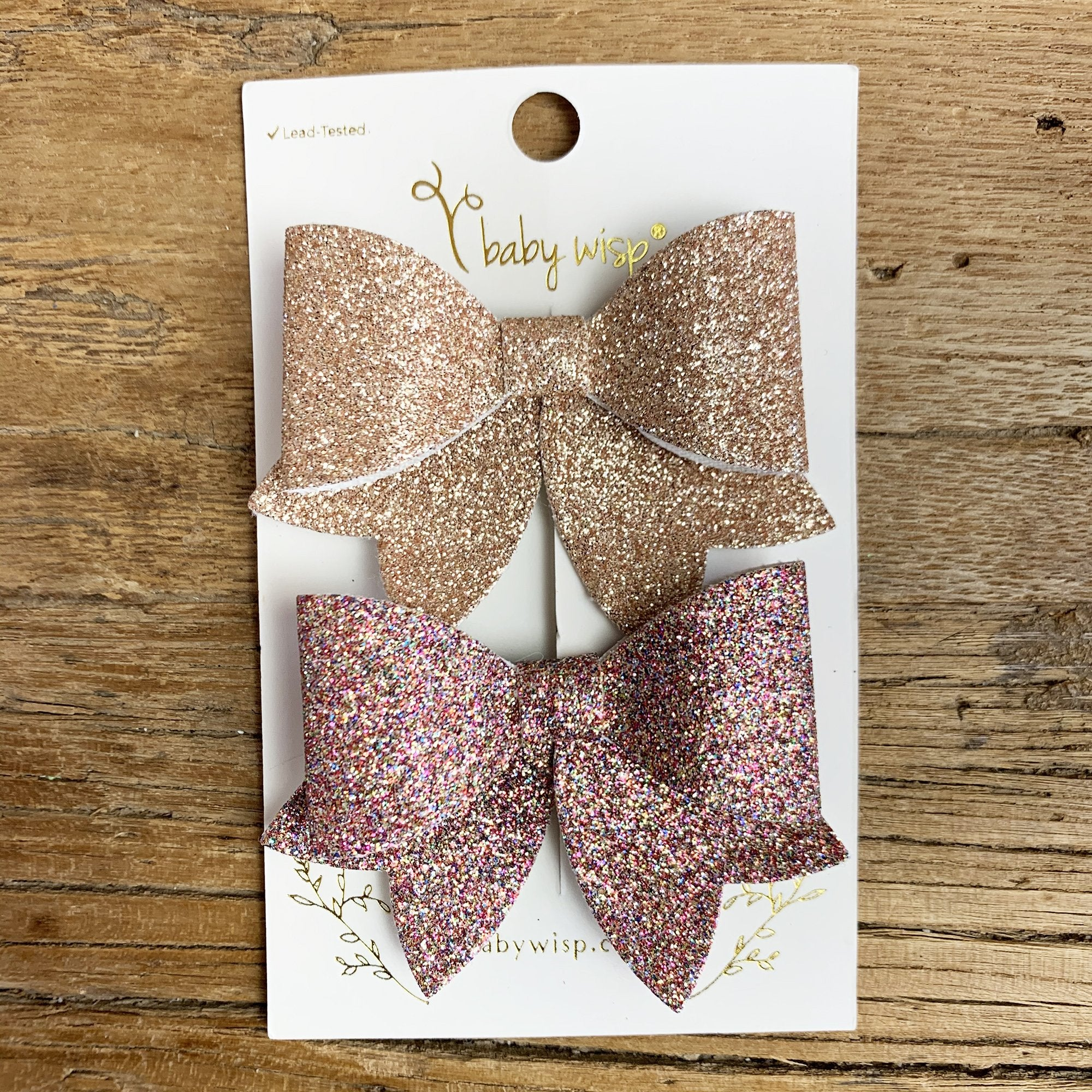 Toddler Bows Maroon Gray Lace and Sparkle Faux Leather Black