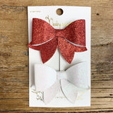 Glitter Bow Sparkle Hair Bow Set | Baby Wisp - Baby Wisp