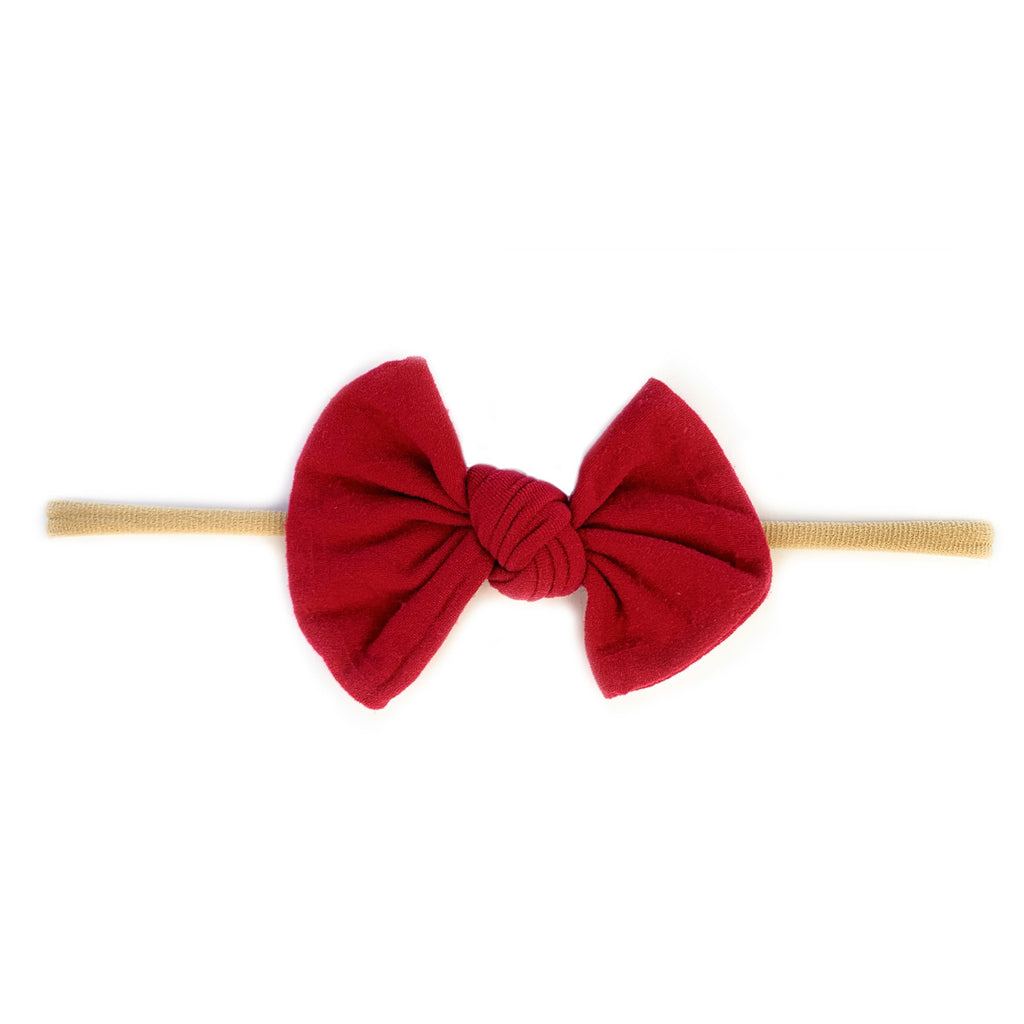 Knotted Bow - Skinny Nylon Headband