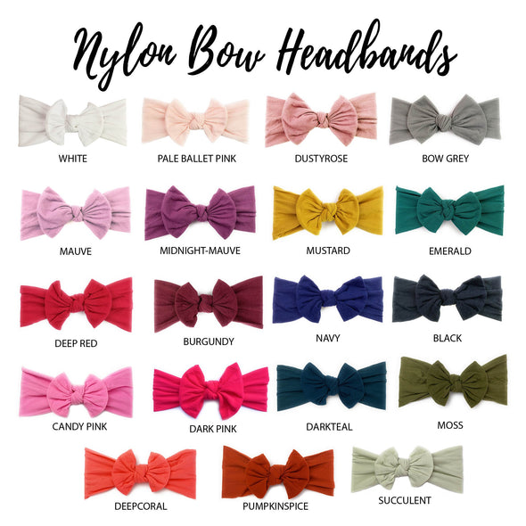 Infant Headwrap Nylon Bow Headband - Baby Wisp