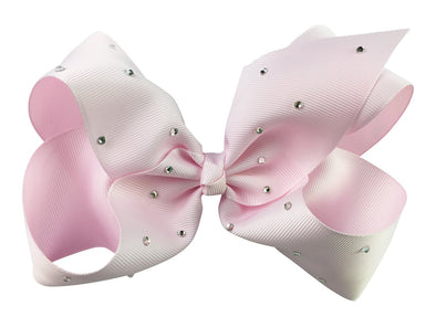 Nicki Bow Pinch Clip - Sparkle - Icy Pink - Baby Wisp