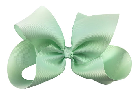 Nicki Bow Pinch Clip - Ice Mint