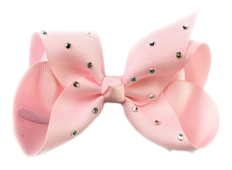 Nicki Bow Pinch Clip - Sparkle - Light Pink - Baby Wisp