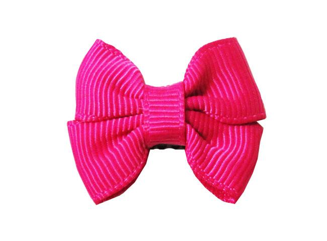 Mini Latch Butterfly Grosgrain Bow - Fuchsia - Baby Wisp