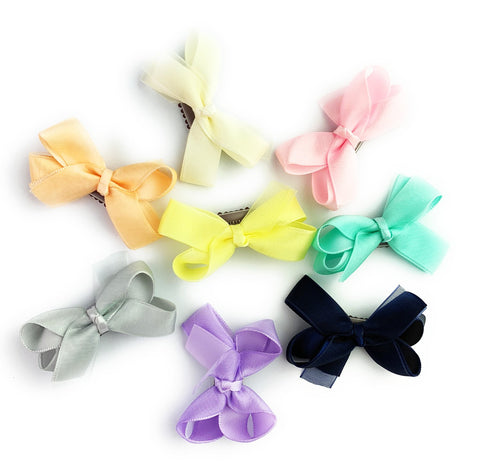 Mini Latch Wisp Clip Boutique Bow Collection - Baby Wisp