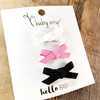 3 Mini Wisp Clips Faux Suede Bows - Twilight - Baby Wisp