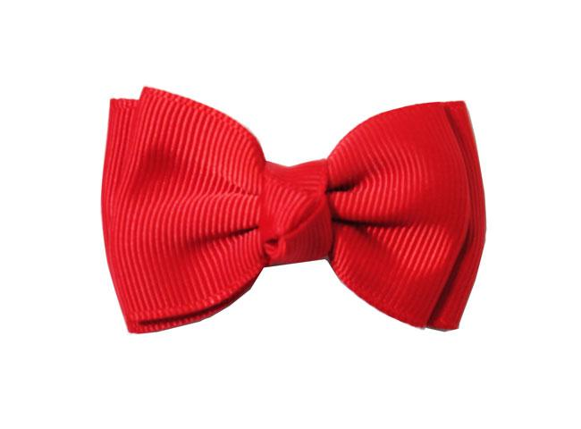 Small Snap Modern Twist Hair Bow - Red - Baby Wisp