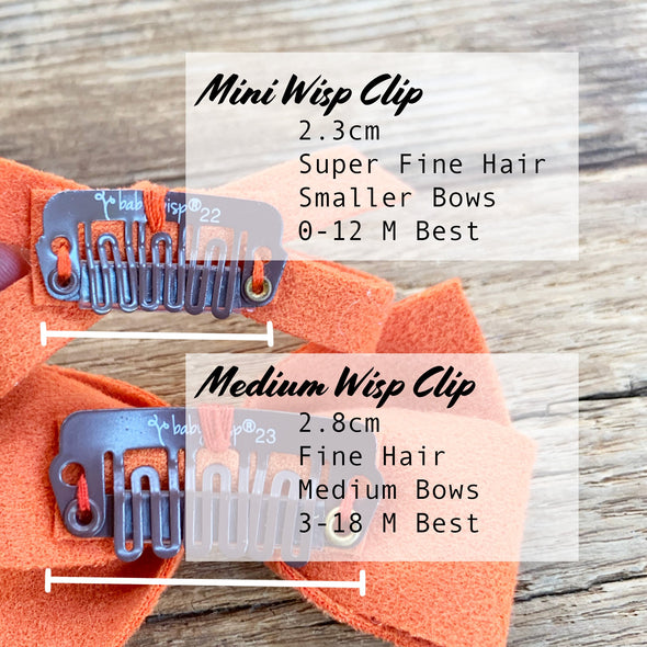 3 Thali Medium Wisp Clip Faux Suede Valentine's Bows For Toddler Girls - Baby Wisp