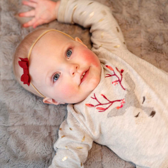 Mya Faux Suede Bow - Headband for Babies - Baby Wisp