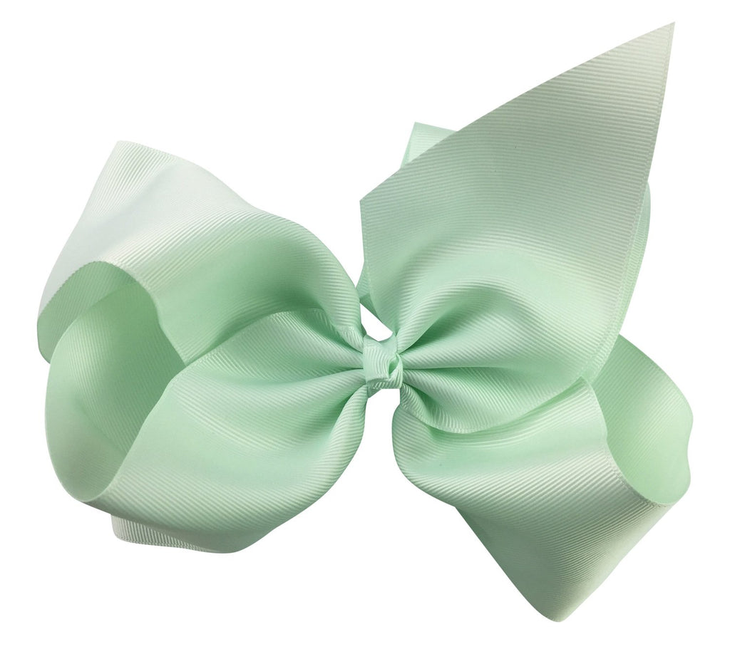 Mariah Bow Pinch Clip - Ice Mint - Baby Wisp